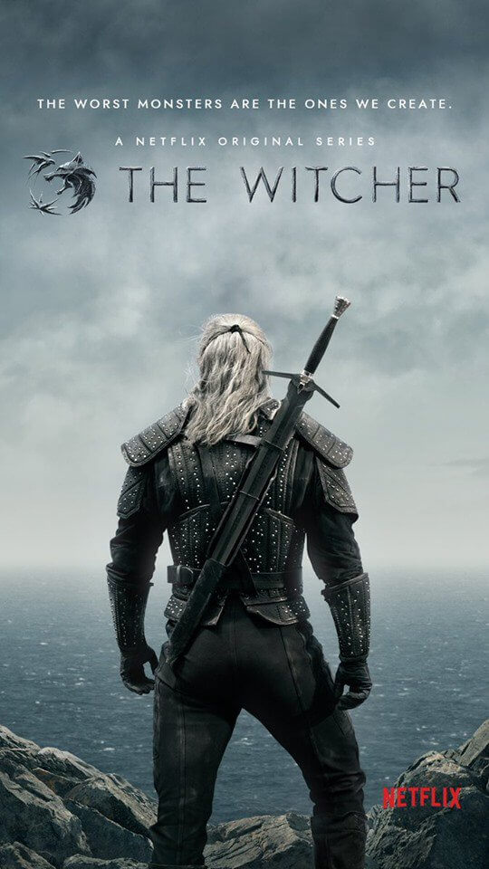 The Witcher: prime immagini e poster, Geralt con una sola spada?