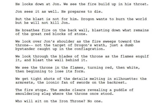 Game of Thrones: lo Script del Finale risponde a una Interessante Domanda su Drogon