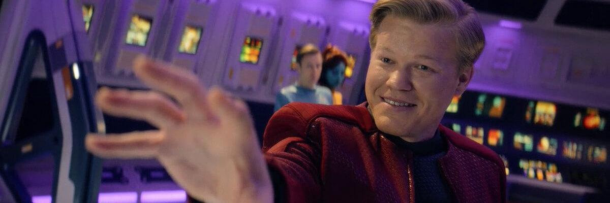 Una scena dell'episodio USS Callister, di Black Mirror